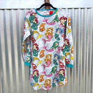 Paperwings mermaid print dress